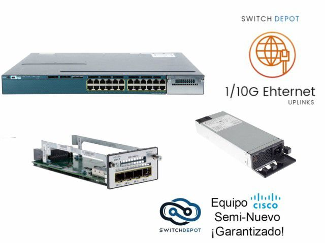 Catalyst 3560X  24 Gigabit PoE+ ports,  715W AC, IP Base - (WS-C3560X-24P-S)